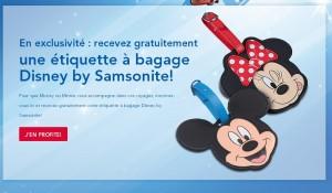 BON PLAN Gratuit :  une étiquette à bagage Disney