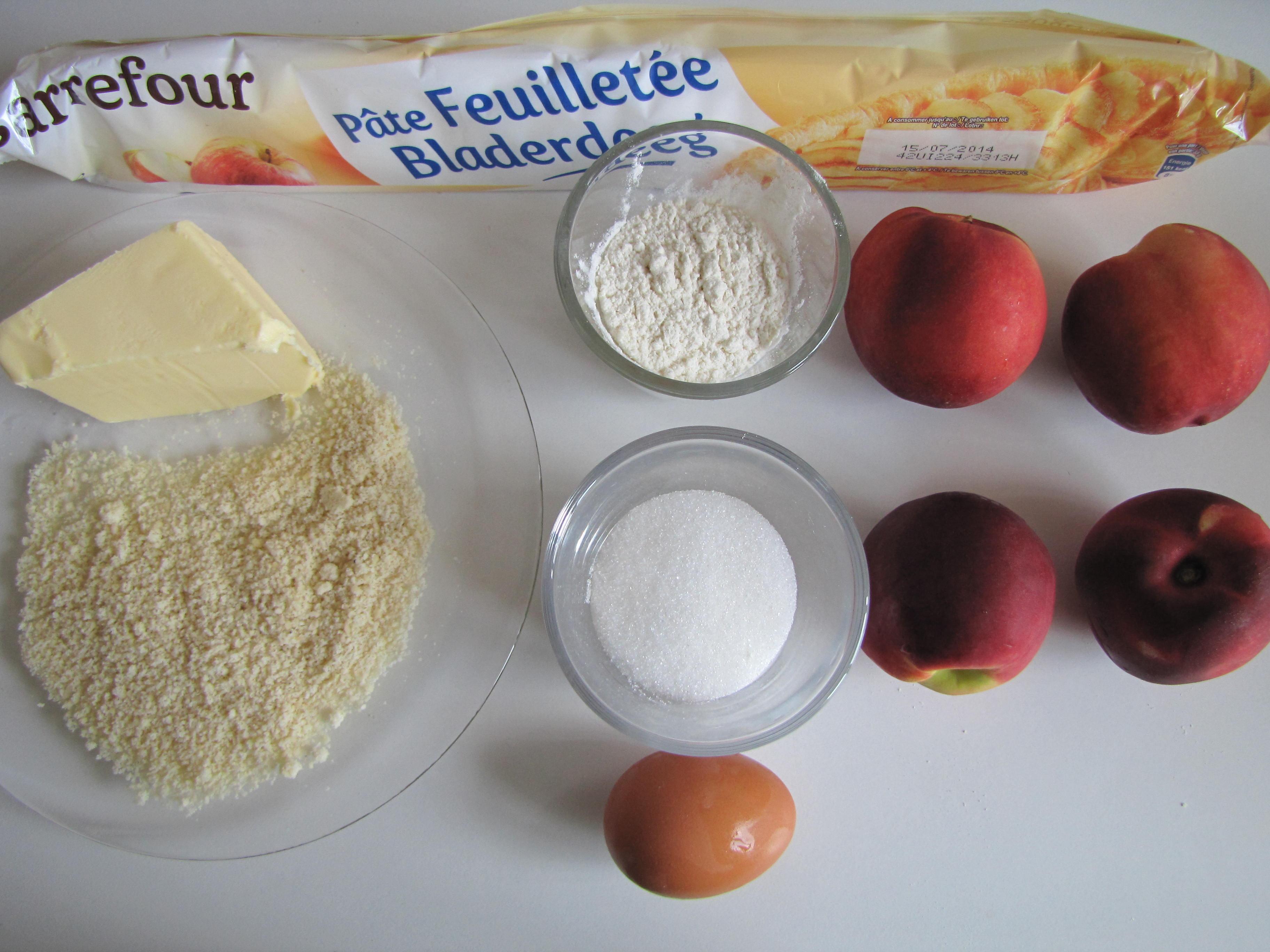 Mes petits desserts #9,  Tarte amandine aux nectarines