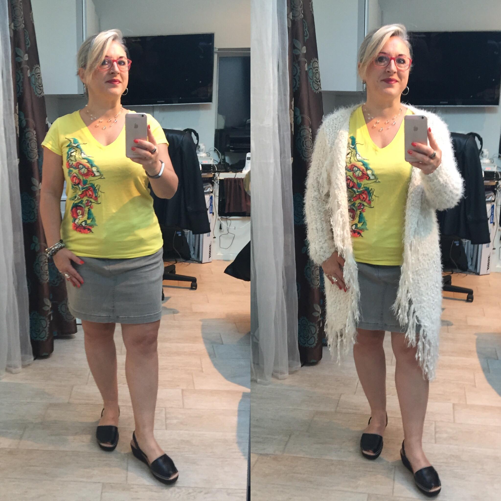 Idée look: un teeshirt, deux looks!
