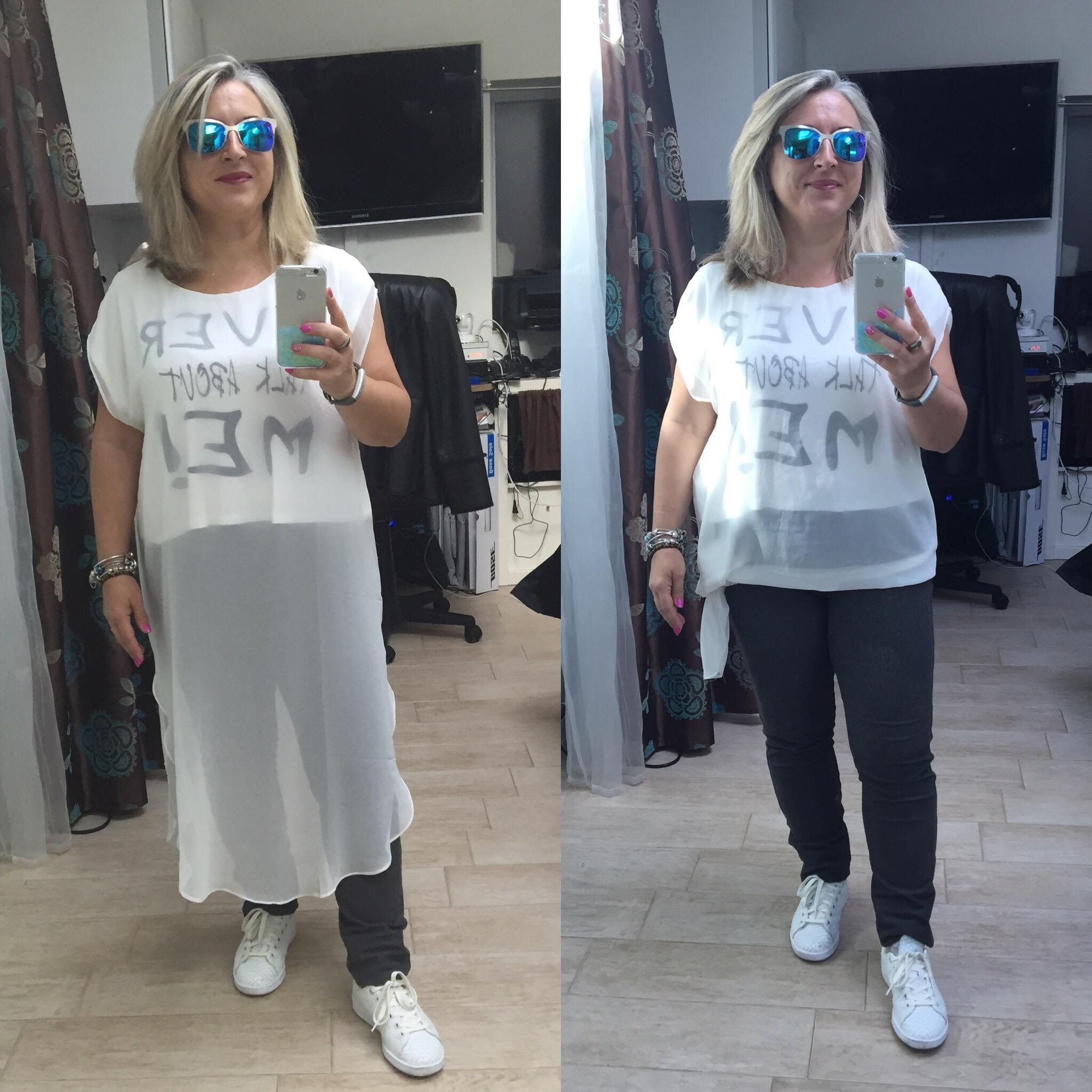 Idée look: tee-shirt «ever talk about me» long ou court???