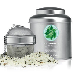 Les tests de TheMouse: Bath tea, Fuji Green tea chez The Body Shop