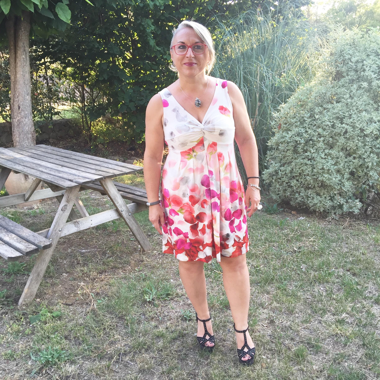 Idée look: enfin une soirée ou j'ai pu porter ma belle robe BLEU D'AZUR!