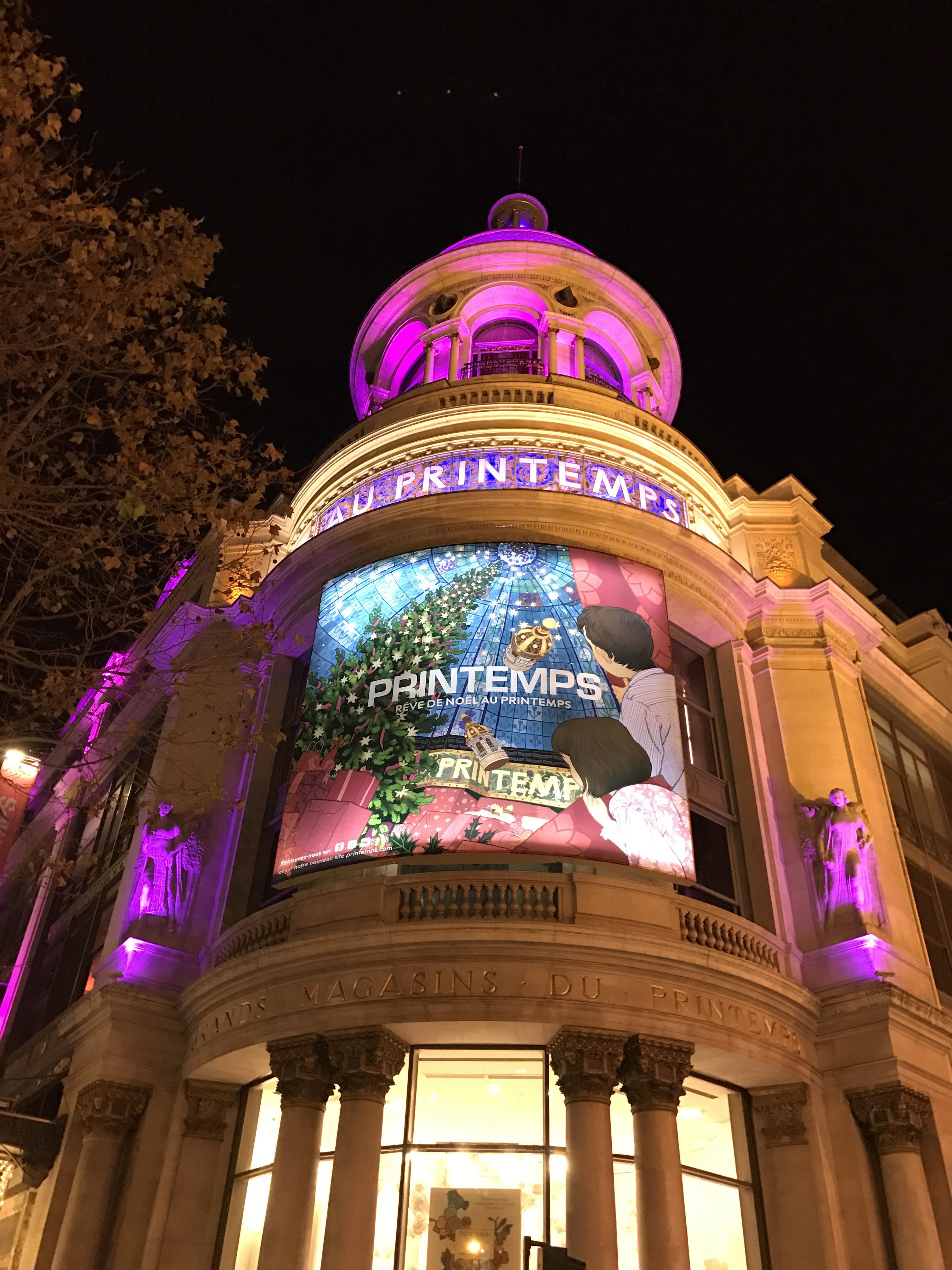 Les vitrines de Noël des grands magasins à Paris