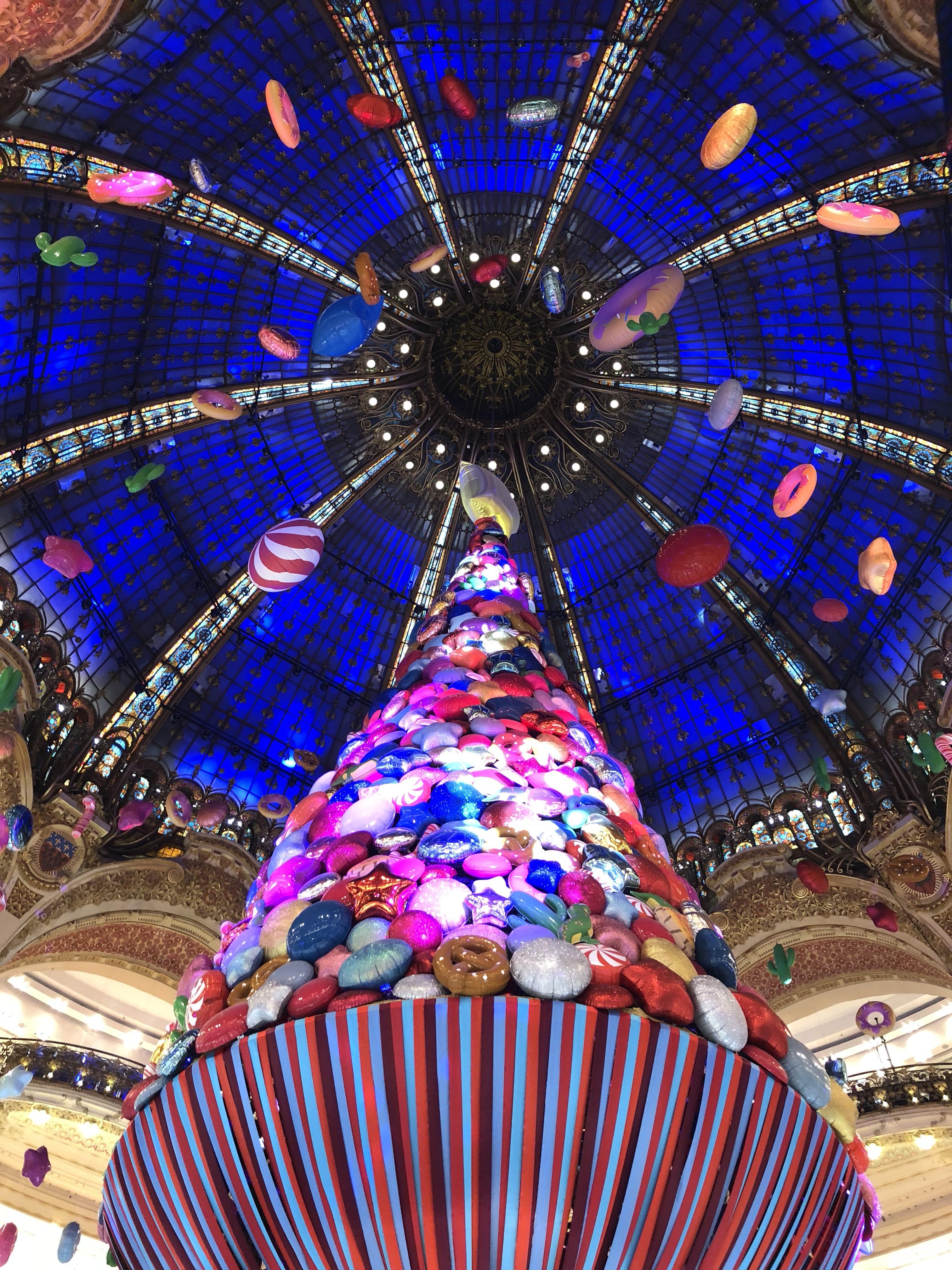 Bonbons aux galeries Lafayette… Lundi Soleil 18/12/2017