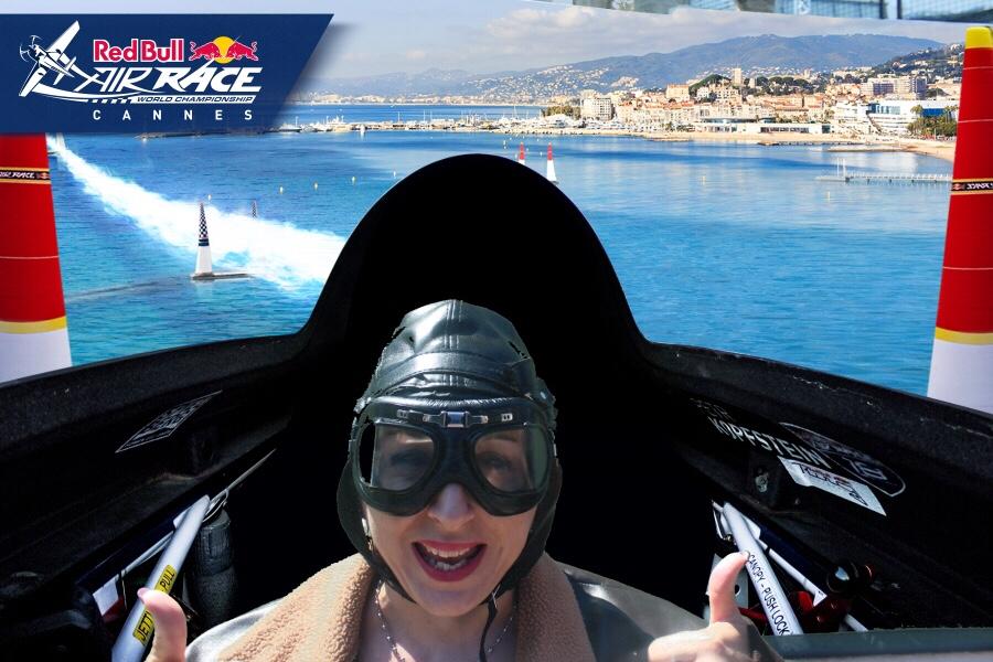 Redbull air race à Cannes sur fond vert… Lundi Soleil 23/04/2018