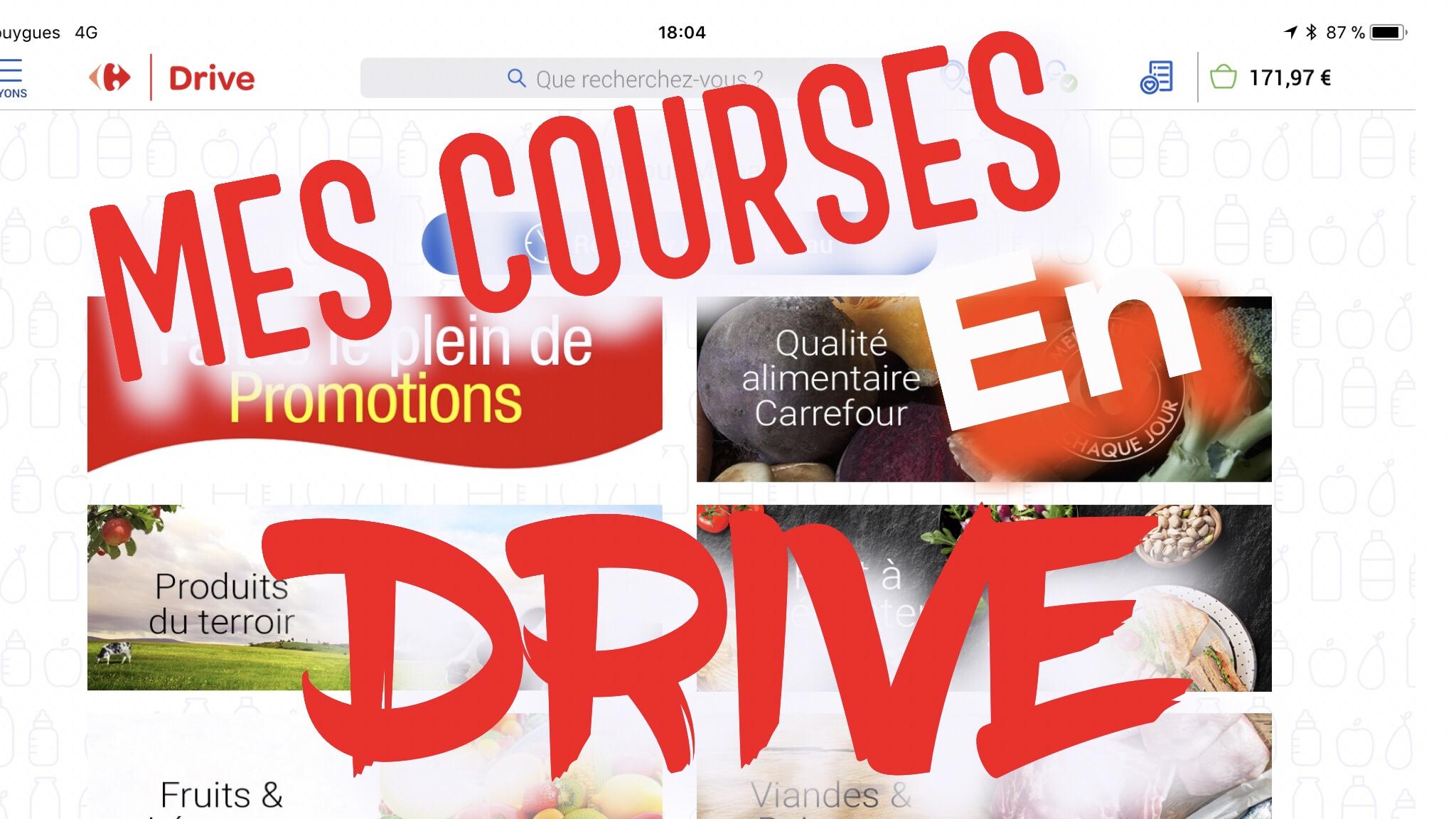 FAIRE SES COURSES EN DRIVE
