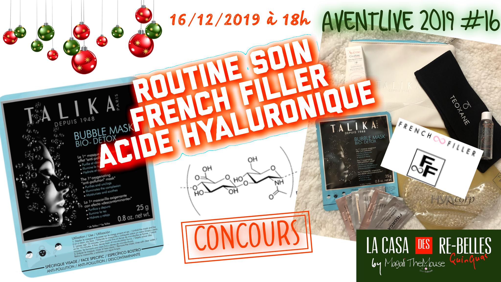 Routine du soir avec French Filler… on parle d'acide hyaluronique!