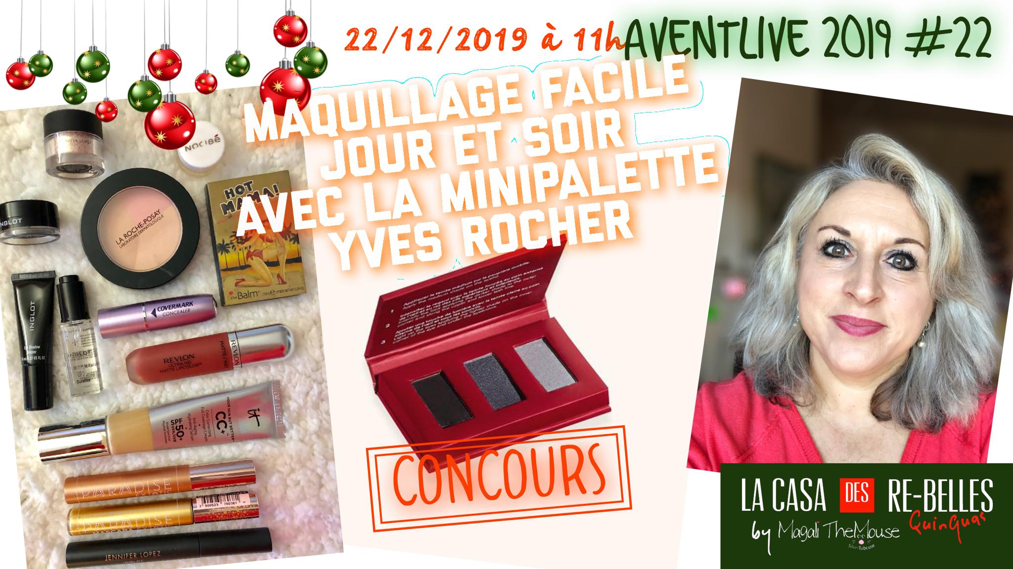 Maquillage facile jour et soir avec la mini palette Yves Rocher