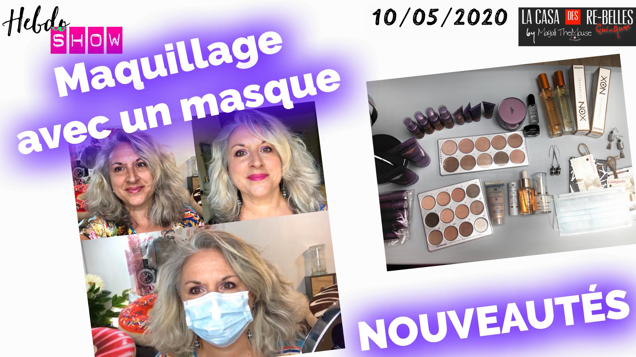 Retour sur Youtube… Maquillage avec un masque…Nouveautés: Covermark, parfums Nox, bijoux Loladujardin création bijoux, Phyderma