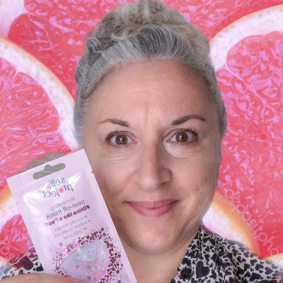 Masque selfie project peeloff rose #shinelikeapearl